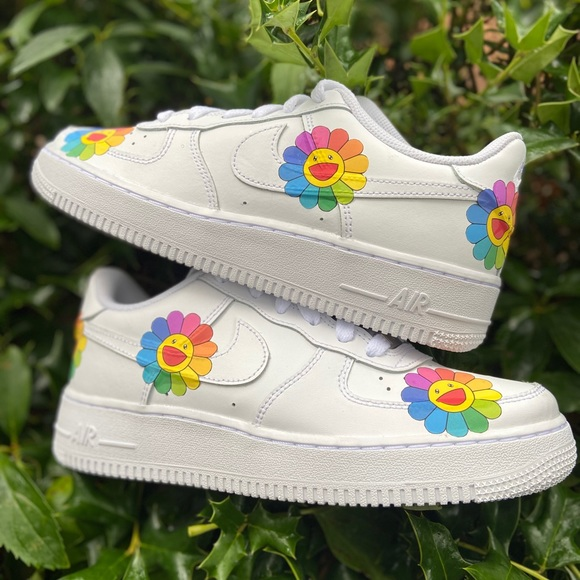 Nike Shoes | Rainbow Flower Nike Air
